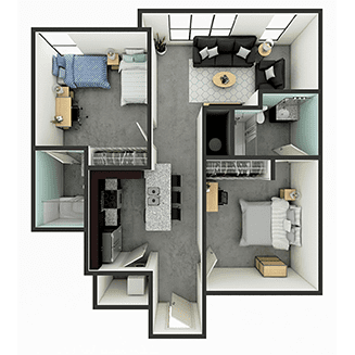 B2 Floor plan layout