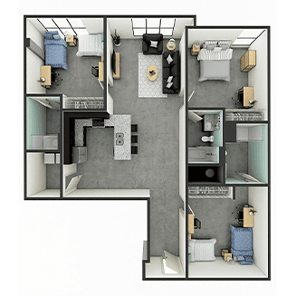 C4 Floor plan layout