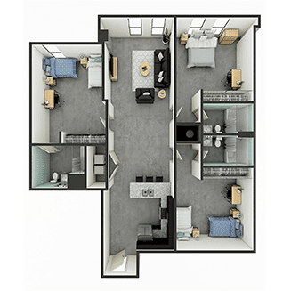 C2 Floor plan layout